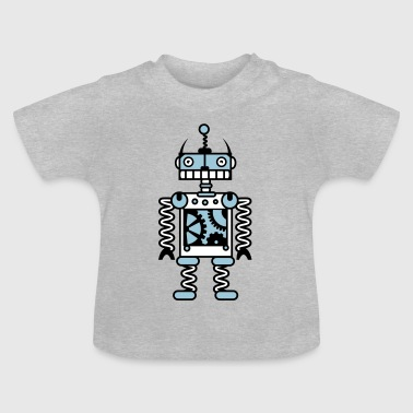A robot with gear wheels  - Baby T-Shirt