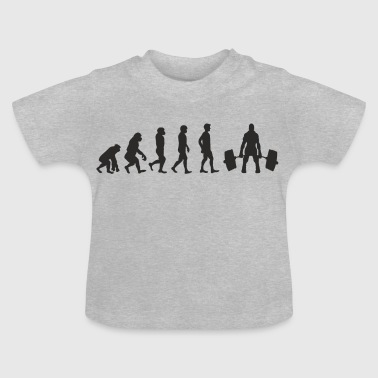 Evolution Weight Lifting - Baby T-Shirt