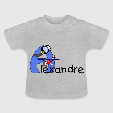 alphabet avion - T-shirt Bébé