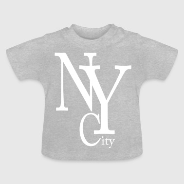 New York City blanc - T-shirt Bébé