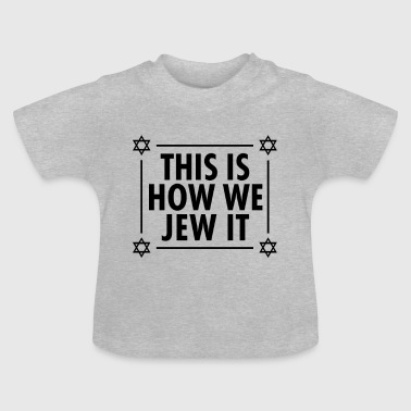 Happy Hanukkah Hanukkah camiseta Dreidel Jew it - Camiseta bebé