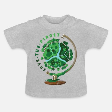 Animal Planet Globe Gift World Sauver la Planète - T-shirt Bébé