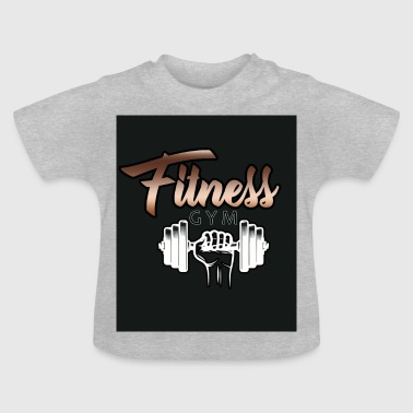 Fitness / gym dumbbell - Baby T-Shirt