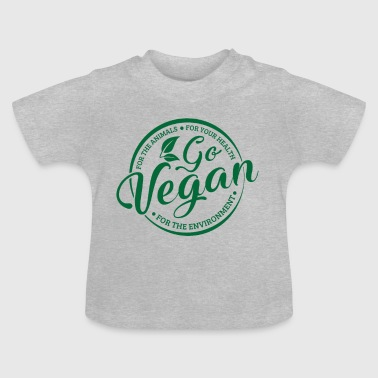 Go Vegan for animals & health & environment - Baby-T-skjorte