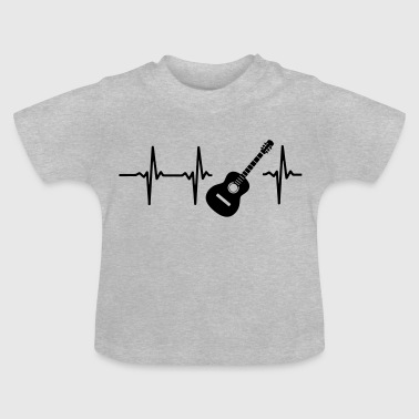 A HEART IS BEATING FOR THE GUITAR - Baby T-Shirt