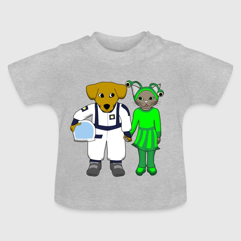 space dog and alien cat - Baby T-shirt