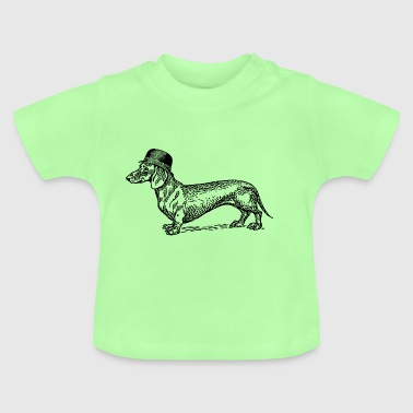Dog with hat - Baby T-Shirt
