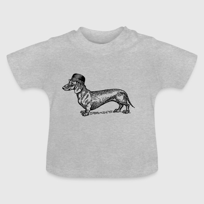 Dackel mit Hut - Baby T-Shirt