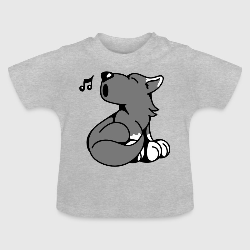 The little wolf howls  Aprons - Baby T-Shirt