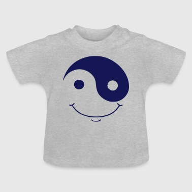 ying yang smiley - Baby T-Shirt