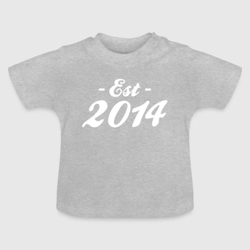 established 2014 - baby birth - Baby T-Shirt