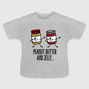 Dabbing dab peanut butter and jelly jar - Baby T-shirt