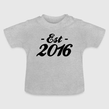 established 2016 - Baby-T-skjorte