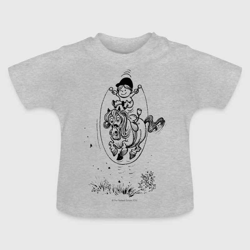 Thelwell - Pony springing skipping rope - Baby T-Shirt