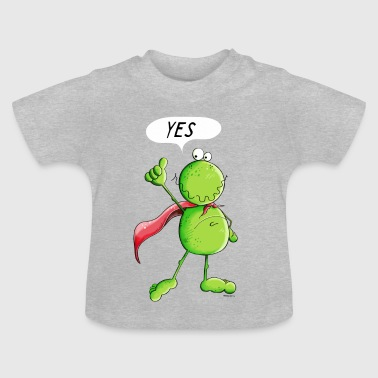 Cartoon Frog Super Frog - Frogs - Comic - Cartoon  - Baby T-Shirt