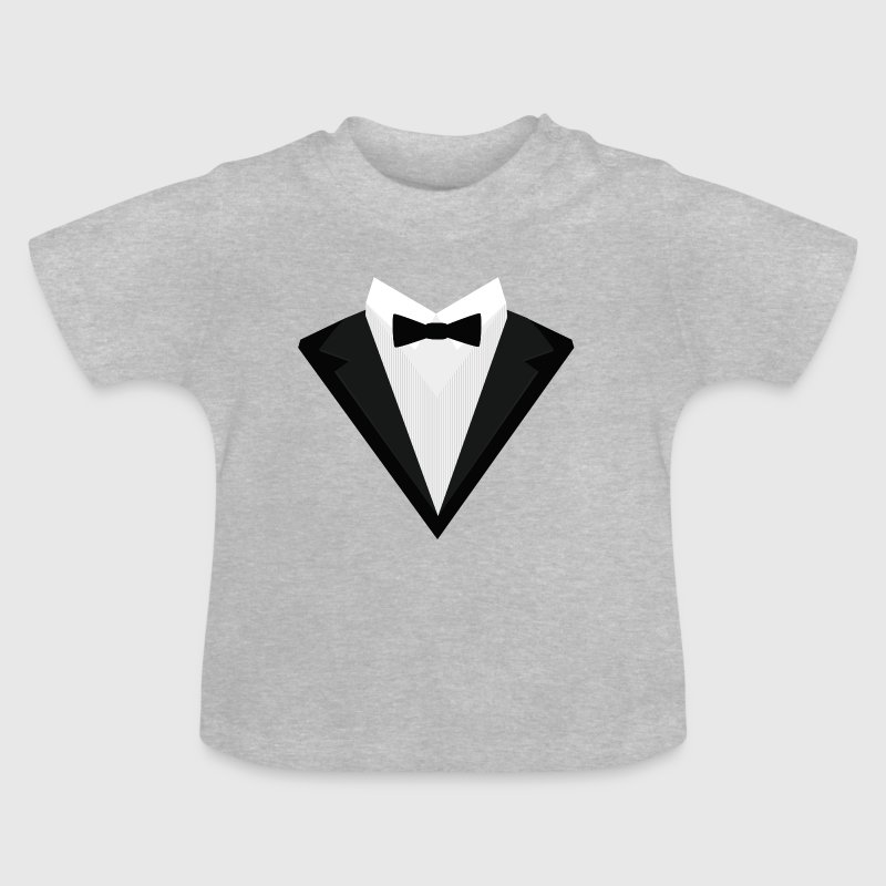 Black Tuxedo with white bow tie S946n - Baby T-Shirt