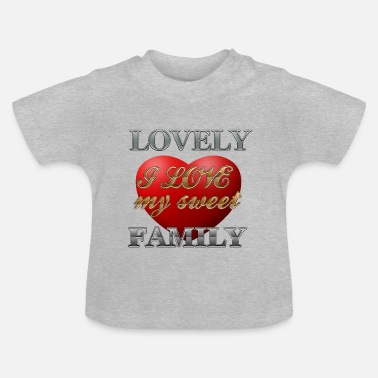 Corazon sweet_family - T-shirt Bébé