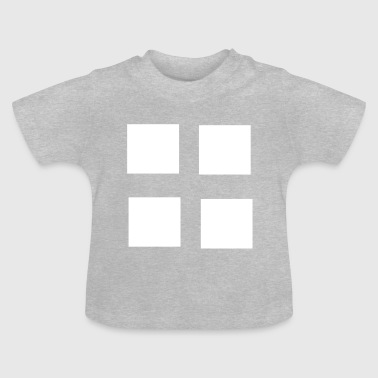 Square squares four patterns gift - Baby T-Shirt