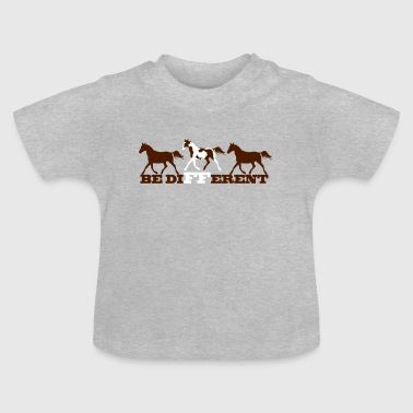 Paint Horse - Be different - Baby T-Shirt