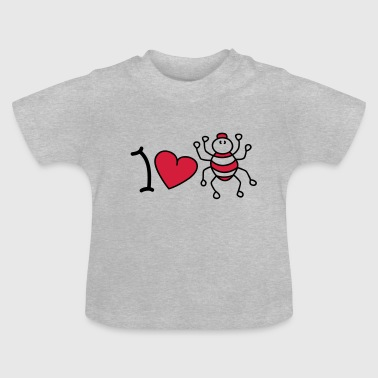 Gruftie I love spiders - Baby T-Shirt