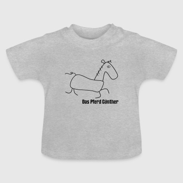 The horse Günther - Baby T-Shirt