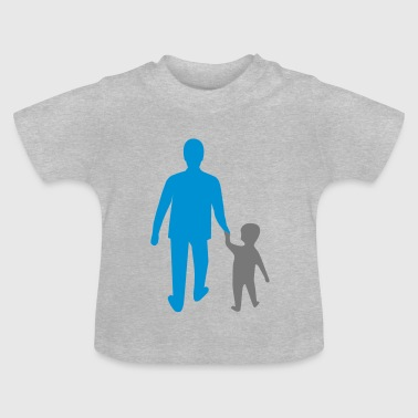 missing father and son - Baby-T-shirt