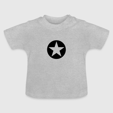 star single blackcircle single - T-shirt Bébé