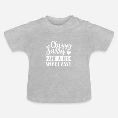Clever Klassisk Naughty Clever Sayings Gift Heart Lady - Baby-T-shirt