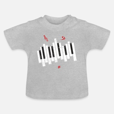 Touche touches de piano - T-shirt Bébé