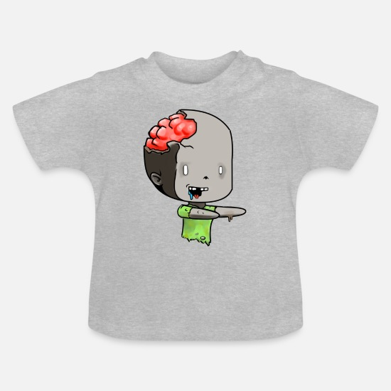 Apocalypse Baby Clothes - Chibi zombie - Baby T-Shirt heather grey
