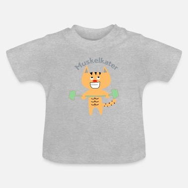 Hebend Muskelkater Fitness Katze - Baby T-Shirt