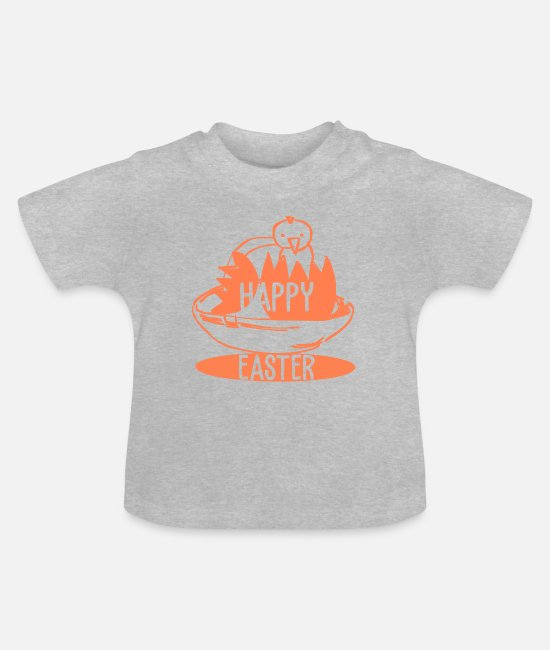 Easter Baby Clothes - happy Easter - Baby T-Shirt heather grey