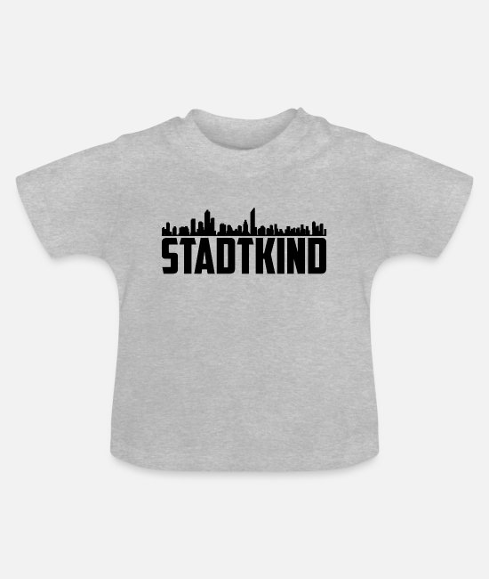 2019 Baby Clothes - T-Shirt | City kid black - Baby T-Shirt heather grey