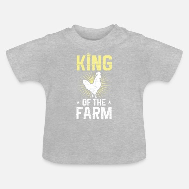 Rooster rooster king farmer - Baby T-Shirt