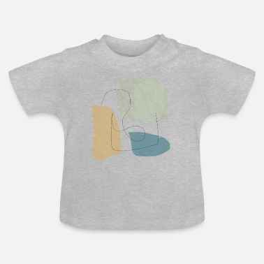 Form Underwear Minimalistic abstract background N3 - Baby T-Shirt