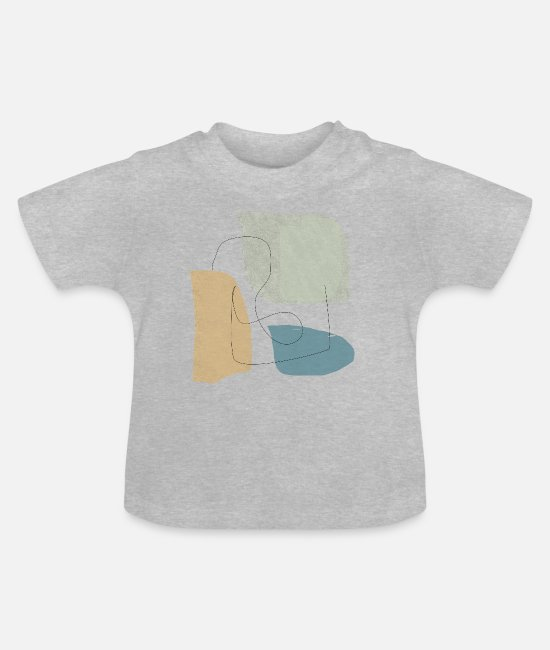 Graphics Baby T-Shirts - Minimalistic abstract background N3 - Baby T-Shirt heather grey