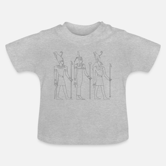 Sphinx Baby Clothes - hieroglyphs pharaohs giza sphinx - Baby T-Shirt heather grey