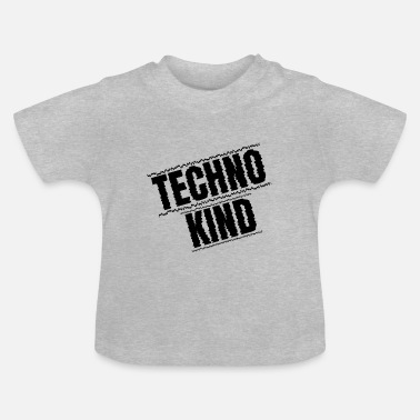 techno kind kid raver festival club minmal - Baby T-Shirt