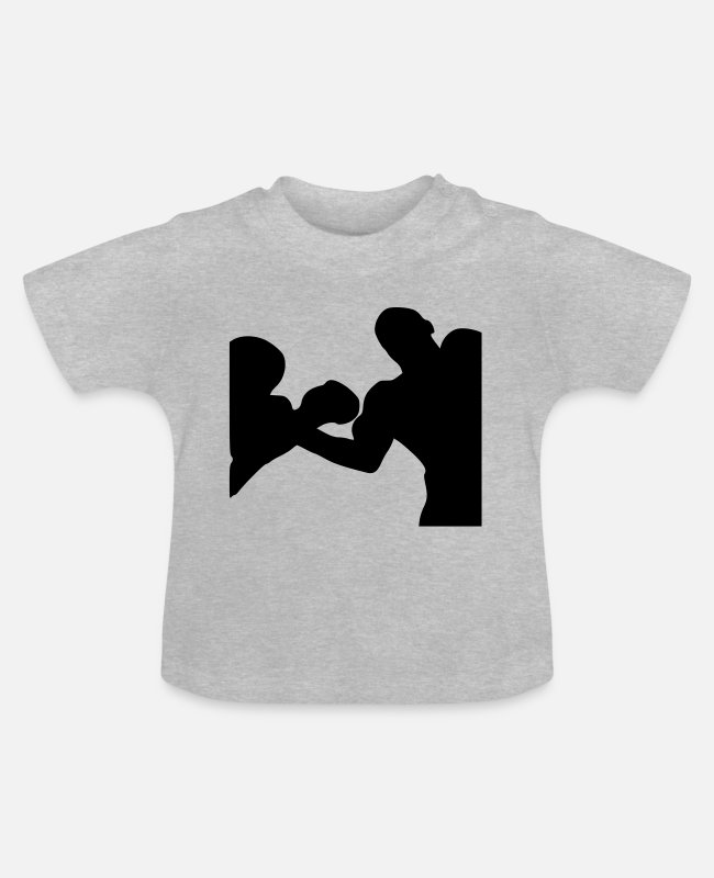 Training Baby T-Shirts - boxer - Baby T-Shirt heather grey