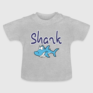 Shark Cartoon cartoon Shark - Baby T-Shirt
