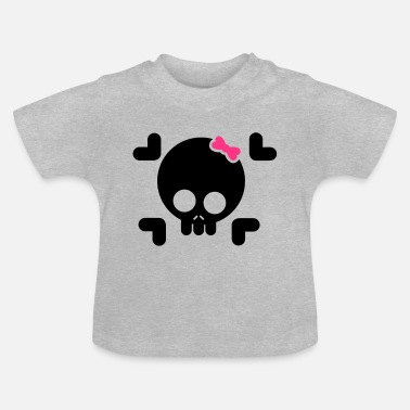 Female 2c skull, pirate, pirate, skull - Baby T-Shirt