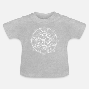 Peace Mandala in white, intuitive and hand painted - Baby T-Shirt