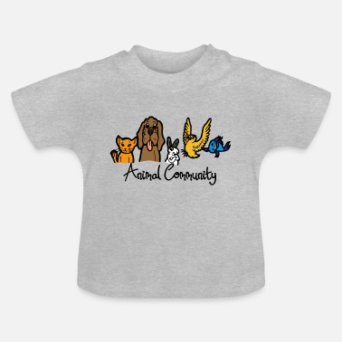 Community Animal Community Forum Animaux Pet Shop Text - T-shirt Bébé