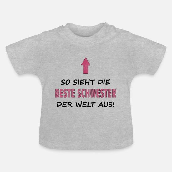 Stolze Schwester Damen T-Shirt Fun Shirt Spruch Geburtstag Geschenk Idee Bruder
