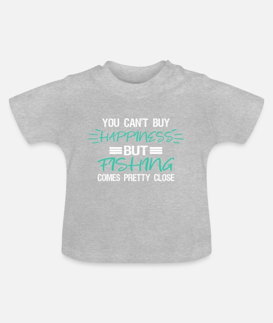 Fishing Rod Baby Clothes - angler - Baby T-Shirt heather grey