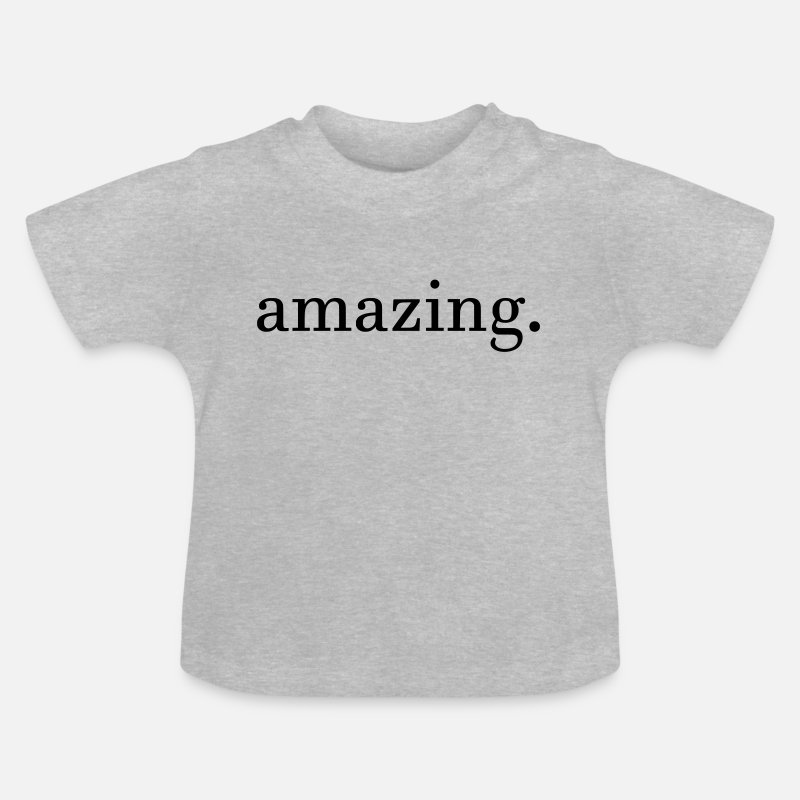 Mood Baby Clothes - amazing - Baby T-Shirt heather grey