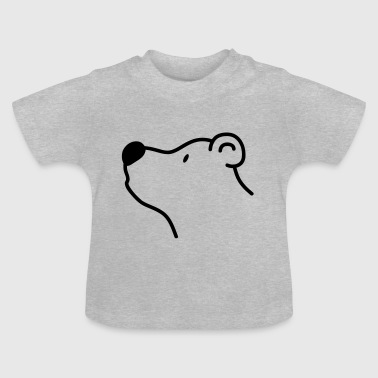 Polar Cute bear with big black nose - Baby T-Shirt
