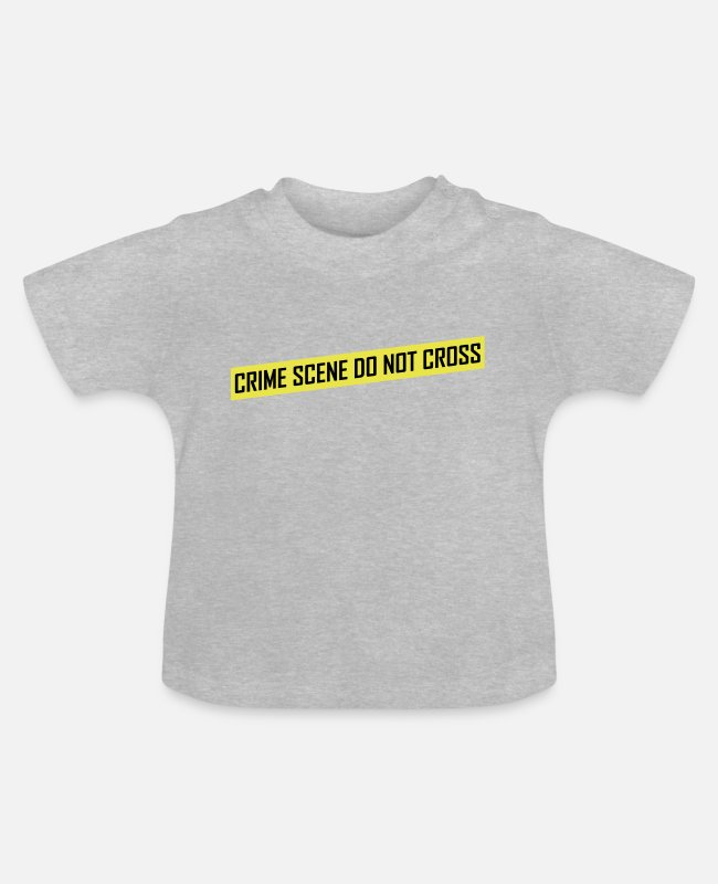 Mord Baby T-Shirts - Crime Scene - Baby T-Shirt Grau meliert