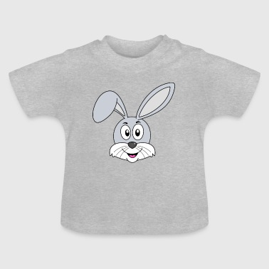 Lustiger lachender Hase in grau - Baby T-Shirt