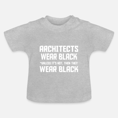 Wear Architect Wear Black - Maglietta neonato